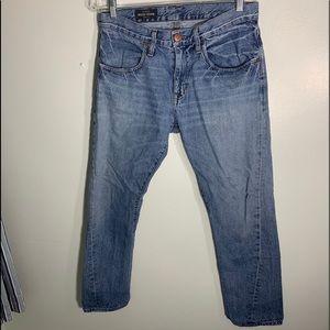 J Crew Indigo Blue Light Wash Straight Leg Jeans